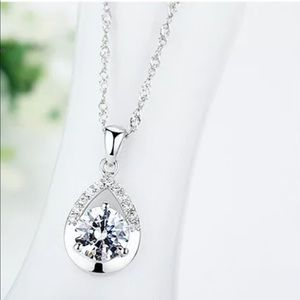925 Sterling Silver Bridal Jewelry Necklace